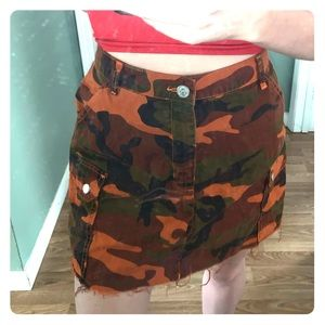 Urban Outfitters BDG camo skirt